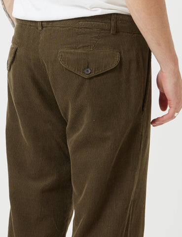 Universal Works Cord Aston Pant - Olive Green
