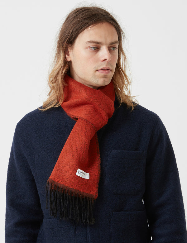 Universal Works Double Sided Scarf - Orange/Brown