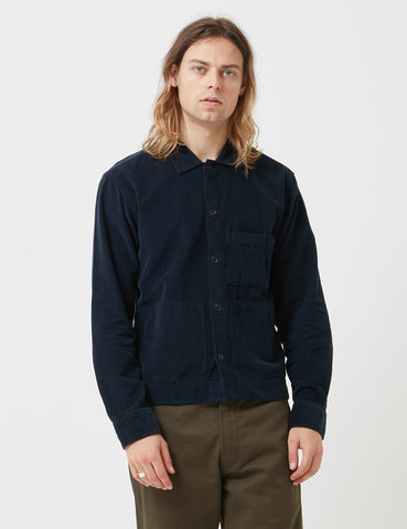 Universal Works Uniform Cord Shirt - Navy Blue