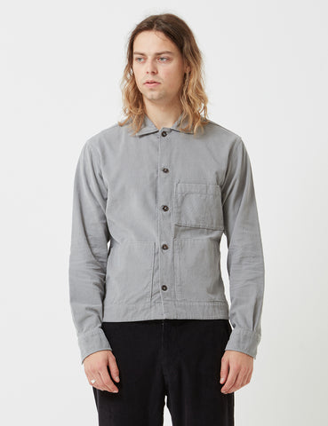 Universal Works Uniform Cord Shirt - Pale Grey
