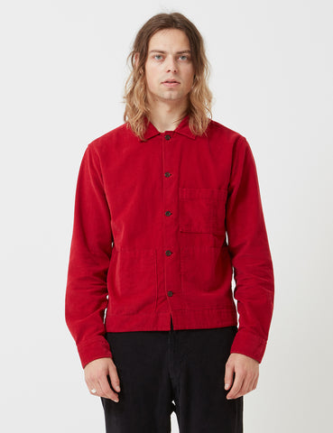 Universal Works Uniform Cord Shirt - Red