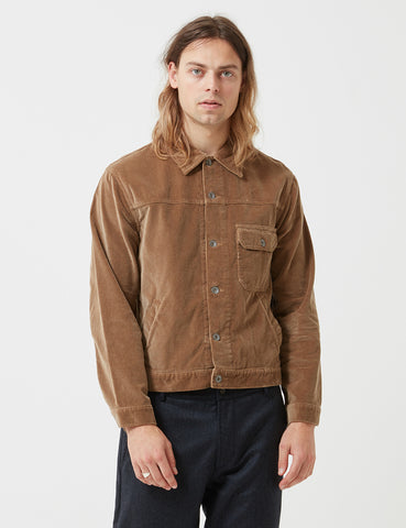 Universal Works Brisbane Cord Trucker Jacket - Stone