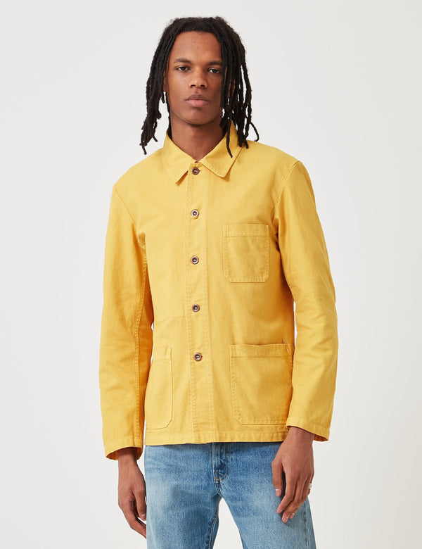 Vetra French Workwear Jacket 5-Short (Dungaree Wash Twill) - Pineapple Yellow