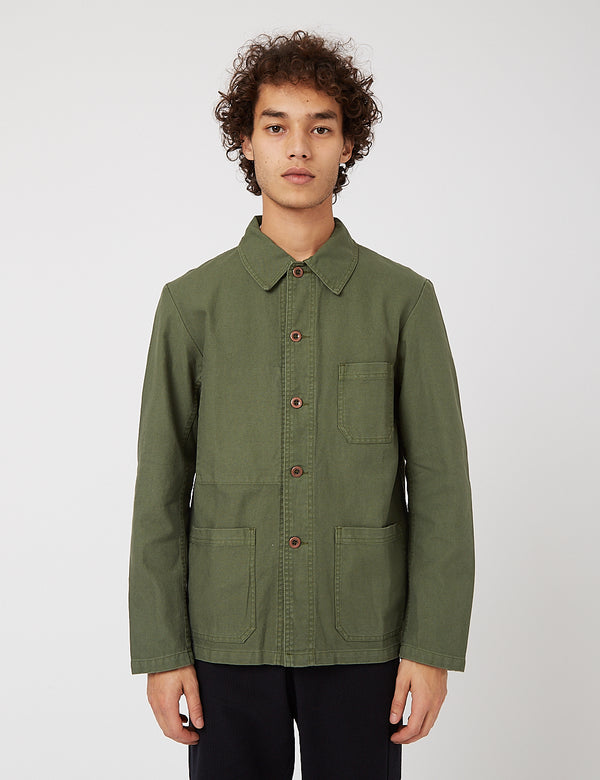 Vetra French Workwear Jacket 5-Short (Cotton Drill) - Jade Green