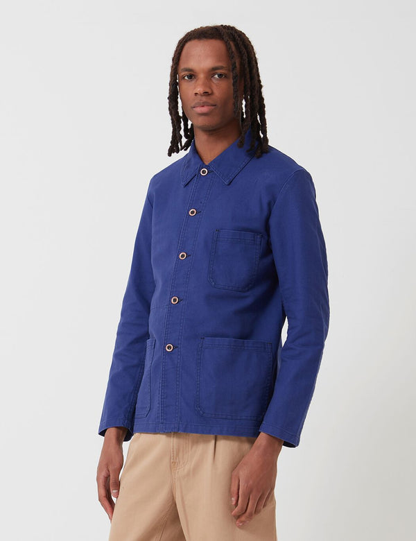 Vetra French Workwear Jacket 5-Short (Cotton Drill) - Hydrone Blue