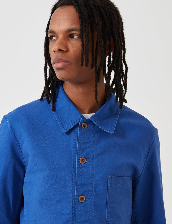 Vetra French Workwear Jacket 5-Short (Dungaree Wash Twill) - Bugatti Blue