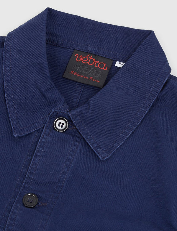 Vetra French Workwear Jacket (Cotton Drill) - Blue Dungaree Wash - Article.