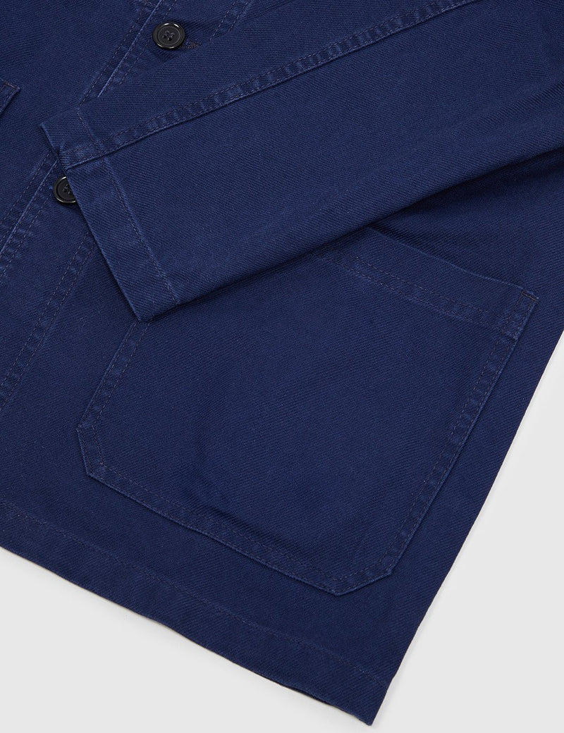 Vetra French Workwear Jacket (Cotton Drill) - Blue Dungaree Wash