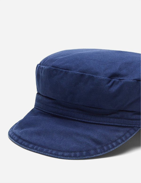 Vetra French Workwear Cap (Dungaree Wash Twill) - Navy Blue