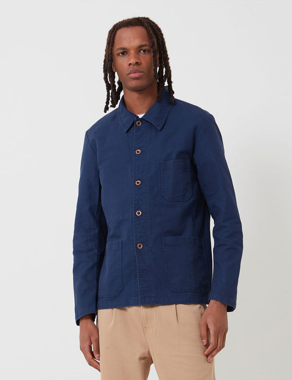 Vetra French Workwear Jacket 5-Short(Cotton Drill) - Navy Blue
