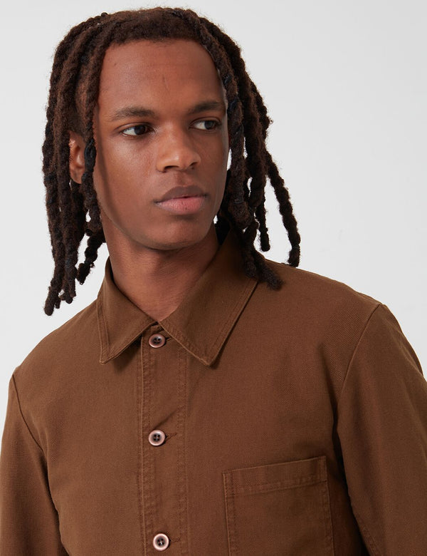 Vetra French Workwear Jacket 5-Short (Cotton Drill) - Camel Brown