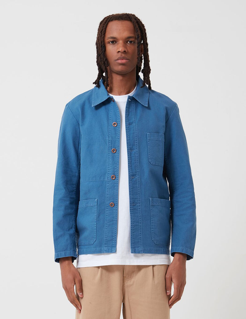 Vetra French Workwear Jacket 5-Short (Cotton Drill) - Waid Blue