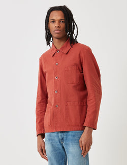 Vetra French Workwear Jacket 5-Short (Dungaree Wash Twill) - Quince Red