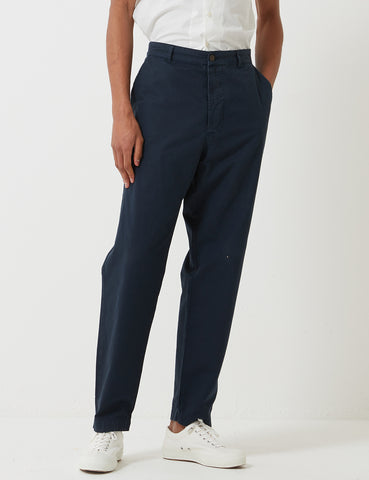 Universal Works Military Chino - Navy Blue Stripe
