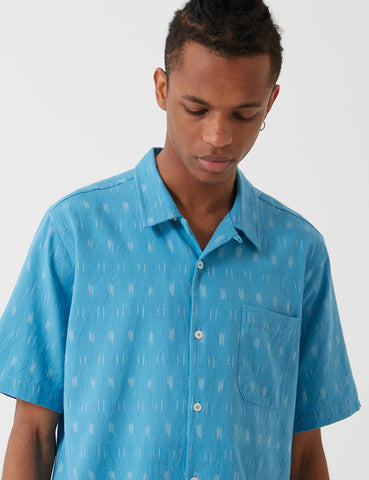 Universal Works Road Shirt - Ikat Sky Blue