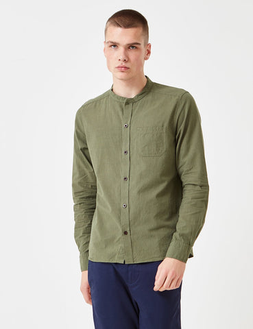 Albam Grandad Shirt - Leaf Green - Article