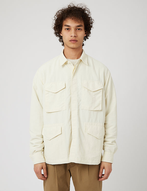Eastlogue M65 Shirt (Nylonscheibe) - Off White