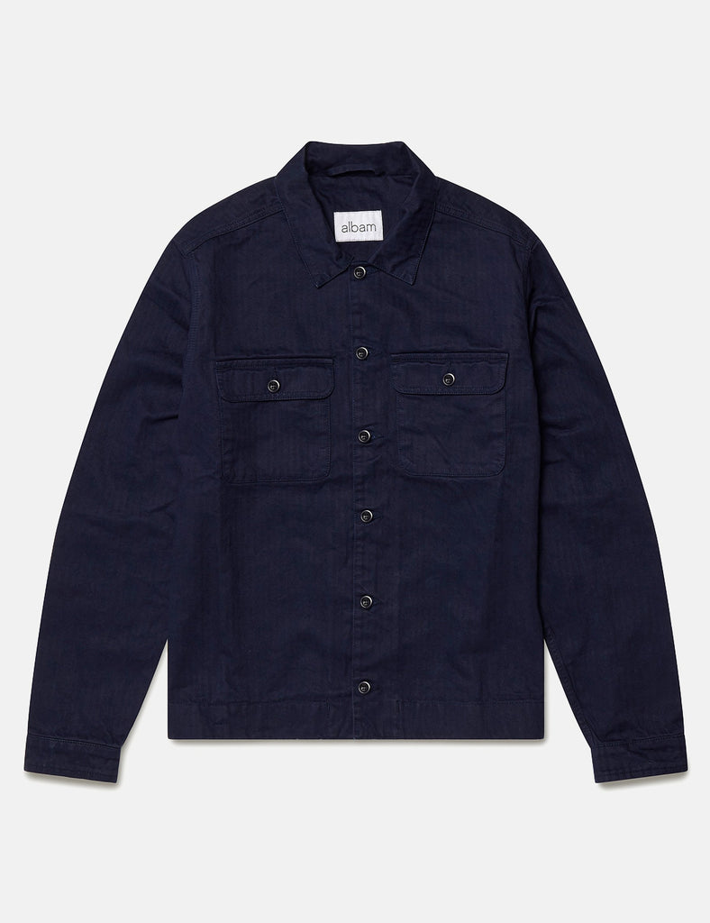 Albam Press Shirt - Regal Blue - Article