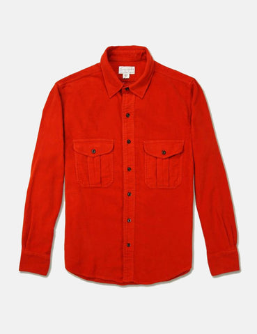 Albam Nash Moleskine Shirt - Burnt Orange - Article
