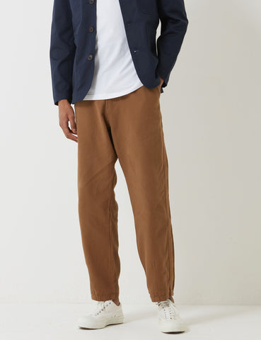 Universal Works Canvas Track Trouser - Khaki