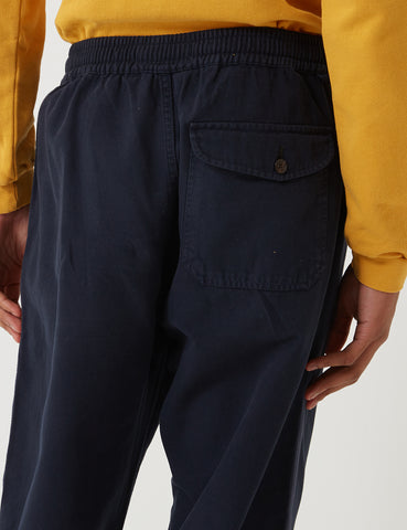 Universal Works Canvas Track Trouser - Navy Blue