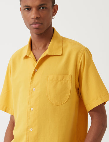 Universal Works Open Collar Shirt - Sunshine Yellow
