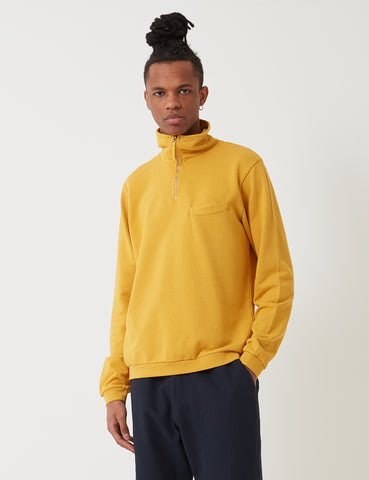 Universal Works Zip Neck Sweatshirt - Sunshine Yellow