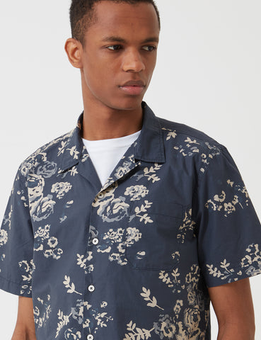 Universal Works Poplin Road Shirt - Flower Navy