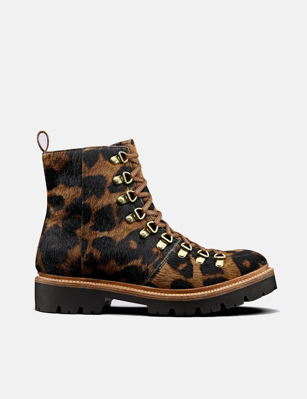 Womens Grenson Nanette Ski Boot (Hair on Hide) - Leopard Print