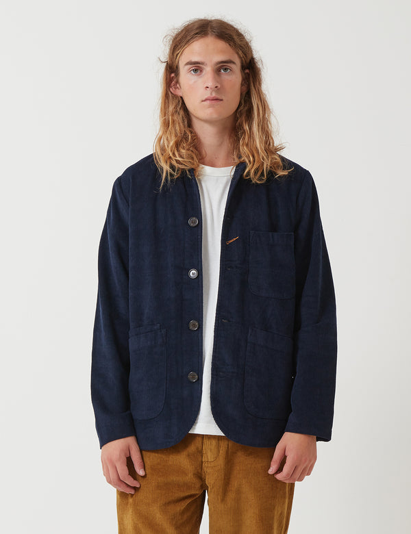 Universal Works Bakers Jacket (Cord) - Navy Blue