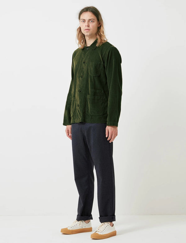 Universal Works Bakers Overshirt (Fine Cord) - Green