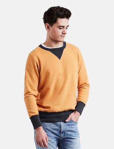Levis Vintage Clothing Bay Meadows Sweatshirt - Faded Orange/Black