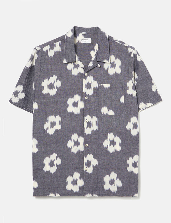 Universal Works Road Shirt (Ikat Flower) - Grey