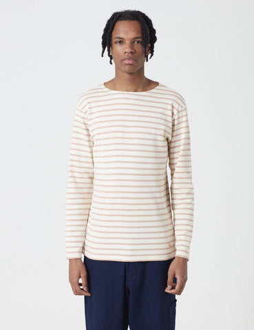 Armor Lux Loctudy Breton Long Sleeve T-Shirt - Nature/Pink - Article
