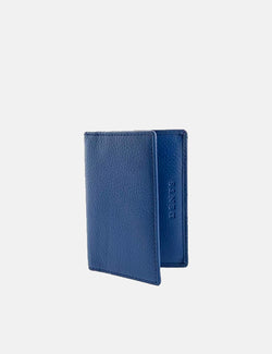 Dents Beauley Leather Card Holder (Pebble Grain) - Royal Blue