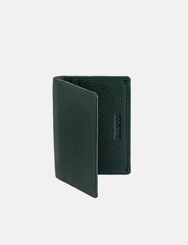 Dents Beauley Leather Card Holder (Pebble Grain) - Bottle Green