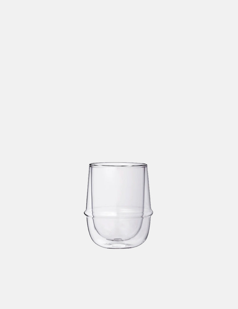 Kinto Kronos Double Wall Coffee Cup - Glass