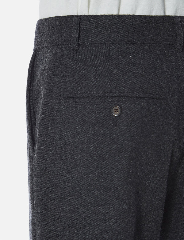 Universal Works Military Chino (Wool Marl II) - Charcoal