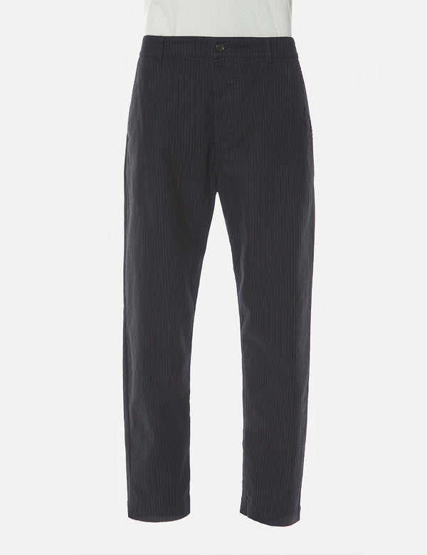 Universal Works Military Chino Pinstripe - Black