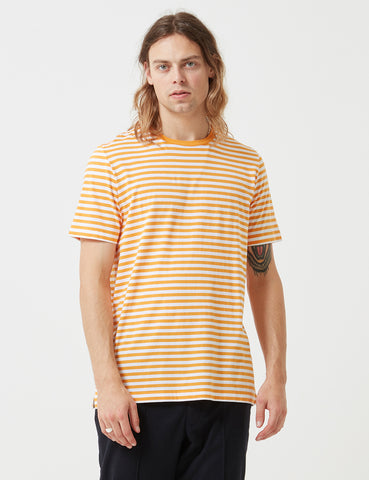 Albam Simple Stripe T-Shirt - Beeswax Yellow - Article