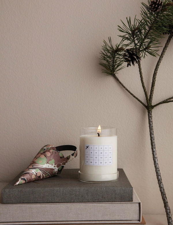 Ferm Living Christmas Calendar Scented Candle - White