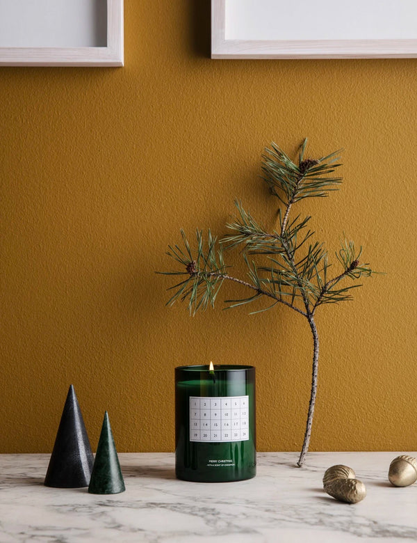 Ferm Living Christmas Calendar Scented Candle - Green