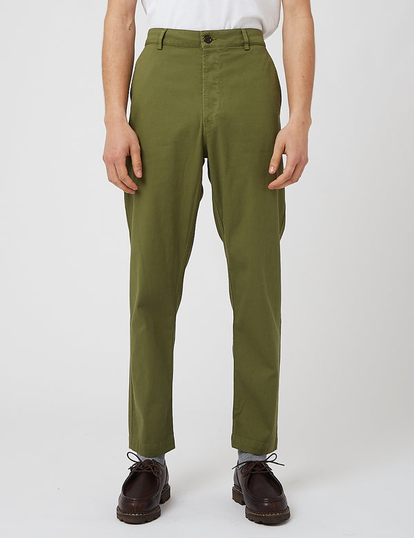 Universal Works Military Chino (Fine Weave Cotton) - Olive