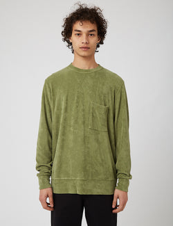 Universal Works Terry Fleece Sweatshirt (Loose) - Olive