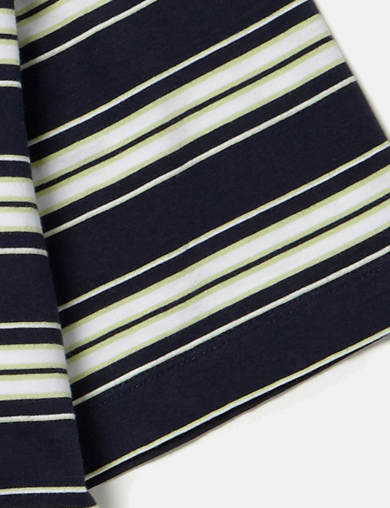 Albam Vintage Stripe T-Shirt - Navy/White/Pistachio - Article