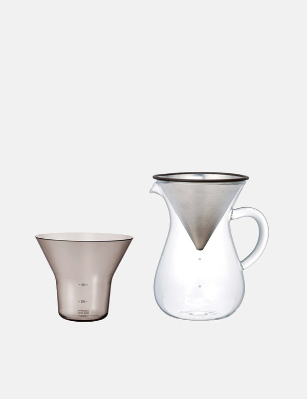 Kinto SCS-04-CC-ST Coffee Carafe Set (600ml) - Stainless Steel