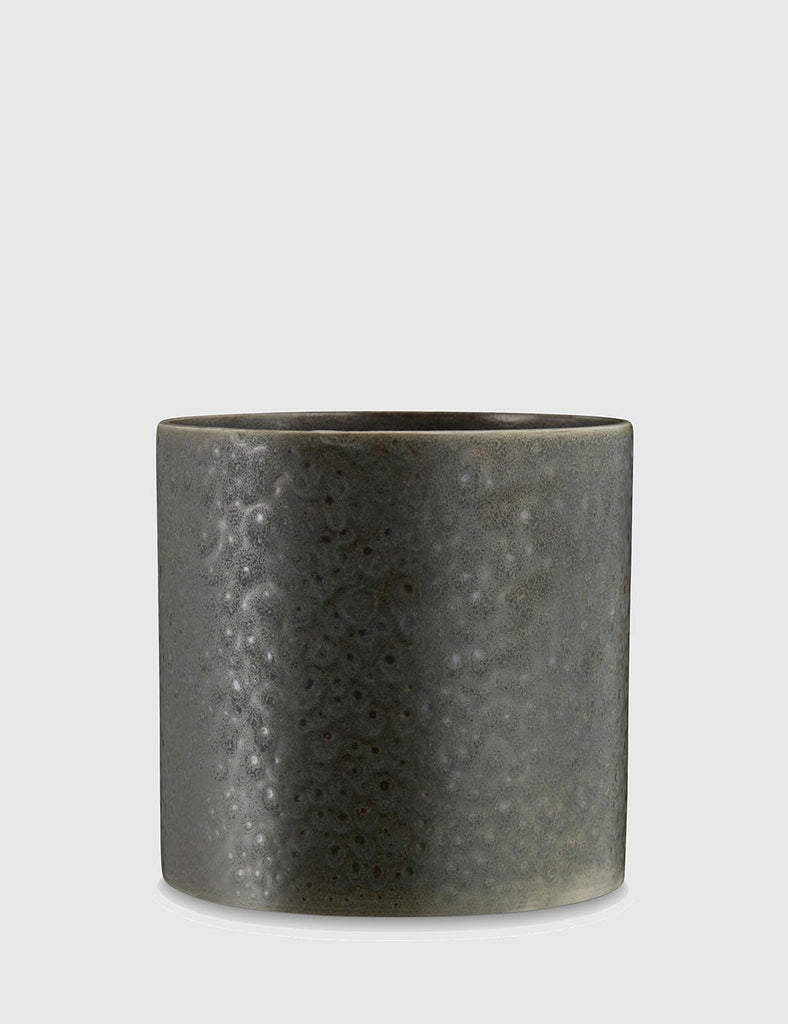 H. Skjalm P Kansas Ceramic Plant Pot (18cm) - Green