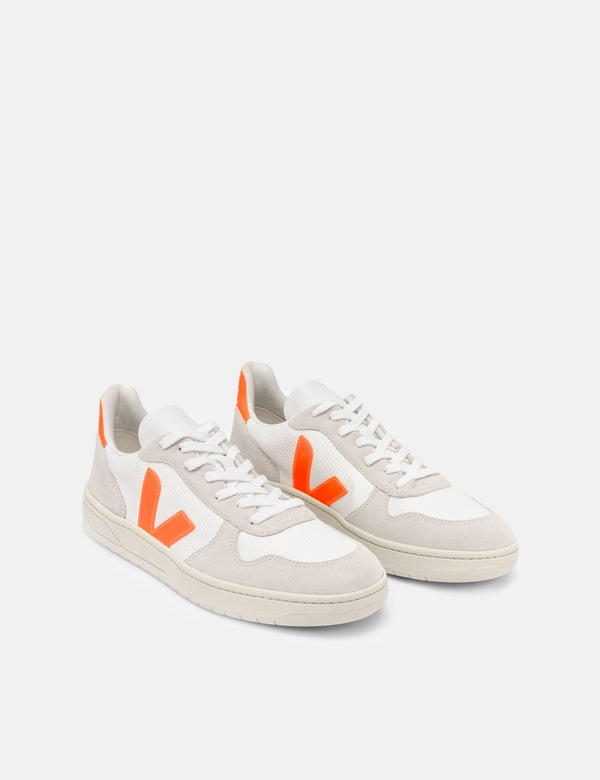Veja V-10 B-Mesh Trainer - Weiß/Naturall/Orange Fluo