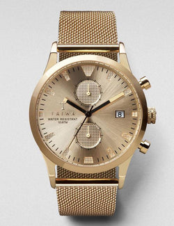 Triwa Sort of Black Chrono Watch - Gold