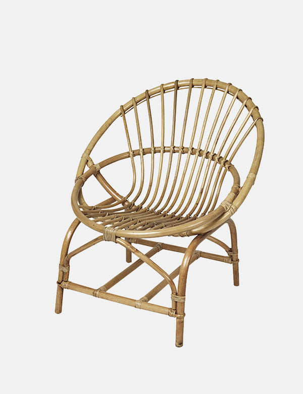 Broste Copenhagen Frida Rattan Chair - Honey Brown